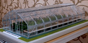 Maquette of the greenhouse for exhibition