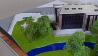 Architectural exibition scale model hitech building (photo 12)