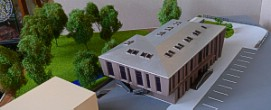 Architectural exibition scale model hitech building (photo 8)