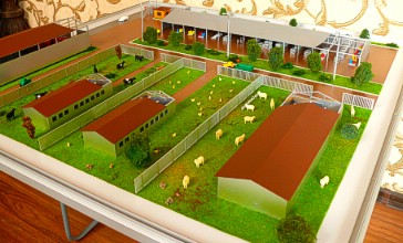 Exhibition layout of the farm
