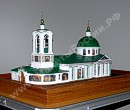Elite present scale model of the Temple on mountains Vorobevyh