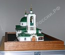 The scale model of the Church the Church on mountains Vorobevyh