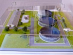 Technology Exhibition maquette treatment plant for pig farm