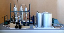 Scale model of complex waste processing factory Lesaffre Voronegskiye yeast (photo 5)